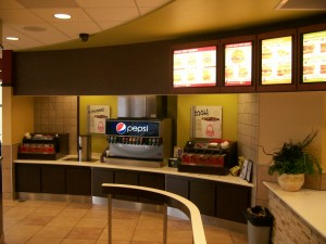 Arby's interior front counter